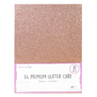 A4 Glitter Card - Light Rose Gold - 10st