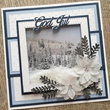 Pappersblock - DIXI Craft - Toppers Snowy Nature - 9x9cm