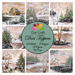 Pappersblock - DIXI Craft - Toppers Winter - 9x9cm