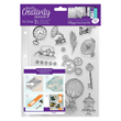 A5 Clear Stamp Set - 16st - Capsule - Steampunk