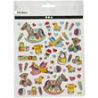 Ark med stickers 15x16,5cm - Baby