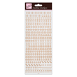 Outline Stickers - Small Numbers - Rose Gold
