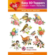 Easy 3D - Toppers - Glitter - Budgies & Birds