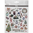 Ark med stickers 15x16,5cm - Gammeldags jul