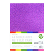 A4 Double Sided Bumper Glitter Pack - Rainbow Bright - 350gsm - 12st