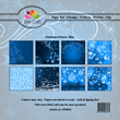 Pappersblock - Dixi Craft - Christmas Pattern Blue - 15x15cm
