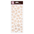 Outline Stickers - Flowers - Rose Gold On White