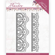 Precious Marieke Dies - Pretty Flowers - Lace Border