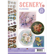 Bok med Die Cut Toppers - Scenery - Flowers